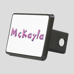 McKayla Pink Giraffe Rectangular Hitch Cover