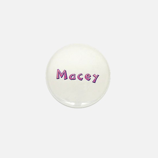 Macey Pink Giraffe Mini Button