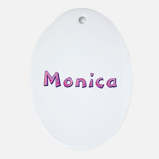 Monica Pink Giraffe Oval Ornament