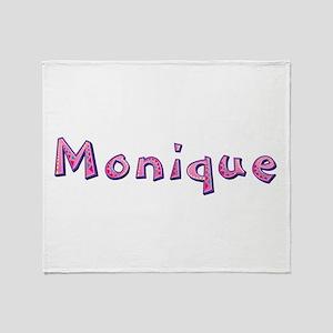 Monique Pink Giraffe Throw Blanket