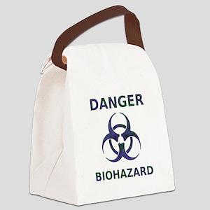 Biohazard Warning Canvas Lunch Bag