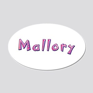 Mallory Pink Giraffe 20x12 Oval Wall Decal