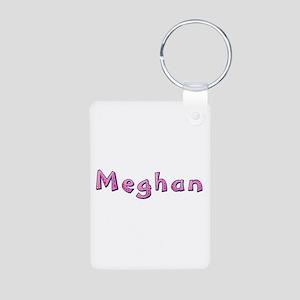 Meghan Pink Giraffe Aluminum Keychain