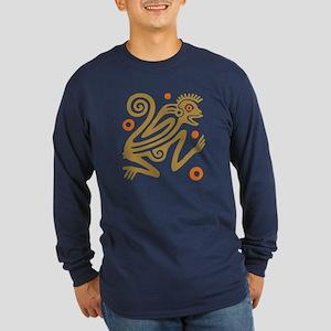 Tribal Monkey Long Sleeve Dark T-Shirt