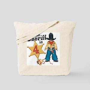 Sheriff 4th Birthday Tote Bag
