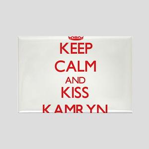 Keep Calm and Kiss Kamryn Magnets