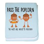 Pass Popcorn Nuts baby blanket