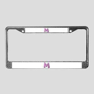 M Pink Giraffe License Plate Frame