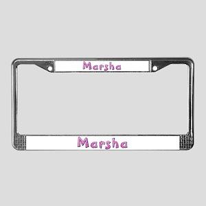 Marsha Pink Giraffe License Plate Frame