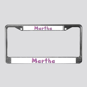 Martha Pink Giraffe License Plate Frame