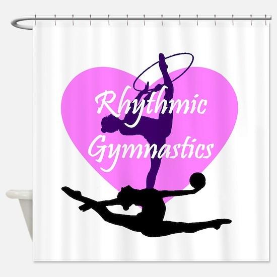 Rhythmic Gymnastics Shower Curtain