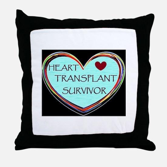 Heart Transplant Survivor Throw Pillow
