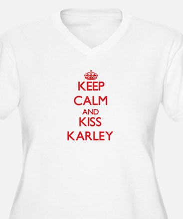 Keep Calm and Kiss Karley Plus Size T-Shirt