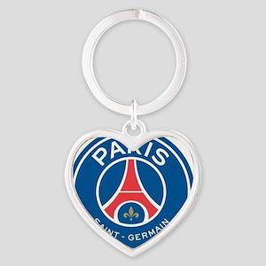 Paris Saint Germain Heart Keychain