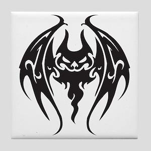Cool Tattoo Style Bat Tile Coaster