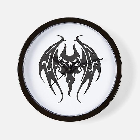 Cool Tattoo Style Bat Wall Clock