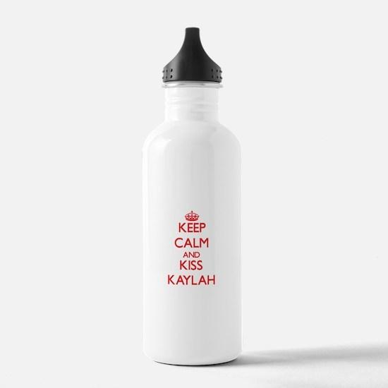 Keep Calm and Kiss Kaylah Water Bottle