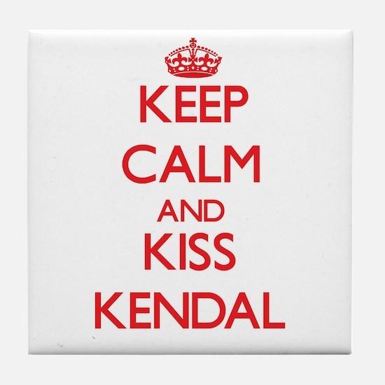 Keep Calm and Kiss Kendal Tile Coaster