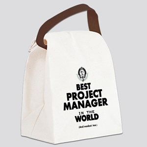 Best Project Manager in the World Canvas Lunch Bag