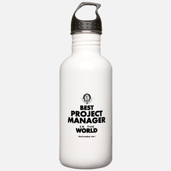 Best Project Manager in the World Water Bottle
