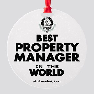 Best Property Manager in the World Ornament