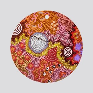 AUSTRALIAN ABORIGINAL ART Round Ornament