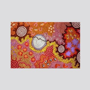AUSTRALIAN ABORIGINAL ART Rectangle Magnet