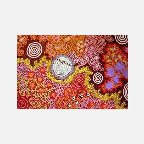 AUSTRALIAN ABORIGINAL ART Rectangle Magnet
