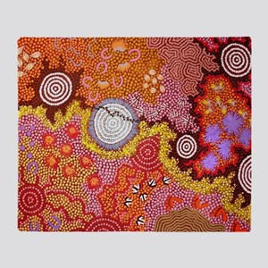 AUSTRALIAN ABORIGINAL ART Throw Blanket