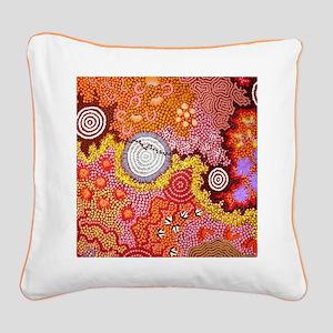 AUSTRALIAN ABORIGINAL ART Square Canvas Pillow