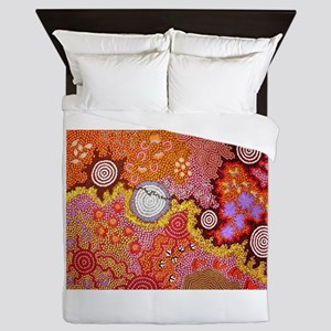 AUSTRALIAN ABORIGINAL ART Queen Duvet