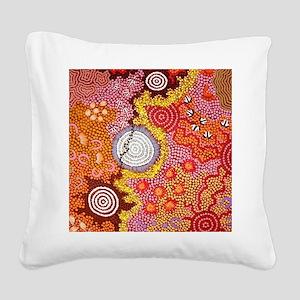 AUSTRALIAN ABORIGINAL ART 2 Square Canvas Pillow