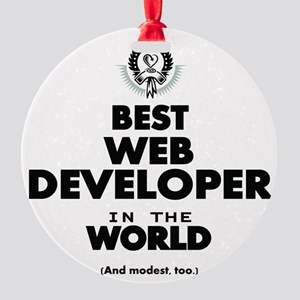 Best Web Developer in the World Ornament