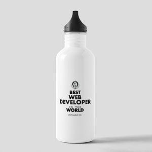 Best Web Developer in the World Water Bottle
