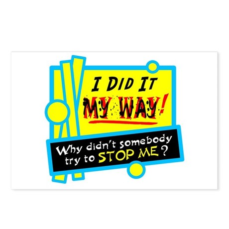 I Did It My Way! Postcards (Package of 8)