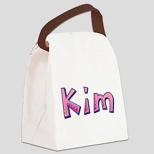 Kim Pink Giraffe Canvas Lunch Bag