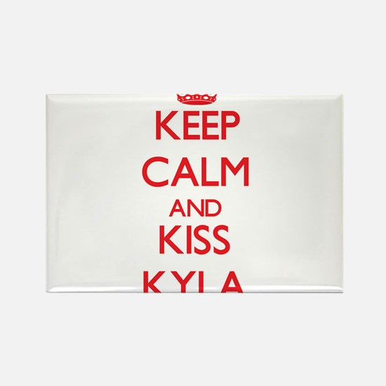 Keep Calm and Kiss Kyla Magnets