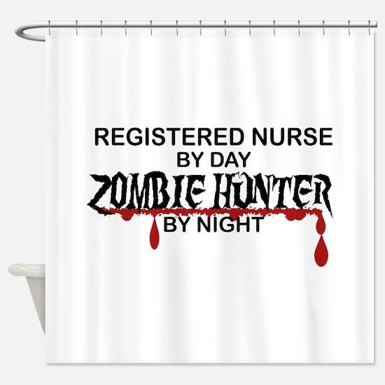 Zombie Hunter - RN Shower Curtain