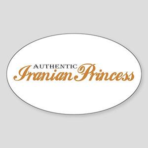 Iranian Princess Oval Sticker