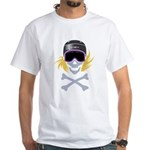 Lil' Snowboarder Skully White T-Shirt