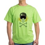 Lil' Snowboarder Skully Green T-Shirt