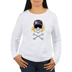 Lil' Snowboarder Skull Women's Long Sleeve T-Shirt