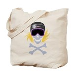 Lil' Snowboarder Skully Tote Bag