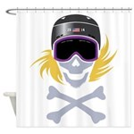 Lil' Snowboarder Skully Shower Curtain