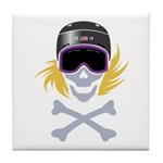 Lil' Snowboarder Skully Tile Coaster