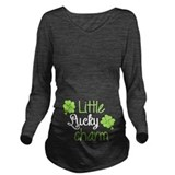 Lucky baby Dark Long Sleeve Maternity T-Shirt