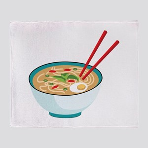 Pho Noodle Bowl Throw Blanket