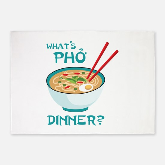 Whats Pho Dinner? 5'x7'Area Rug