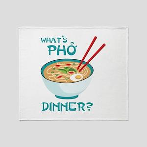 Whats Pho Dinner? Throw Blanket