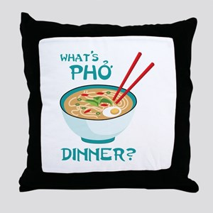 Whats Pho Dinner? Throw Pillow